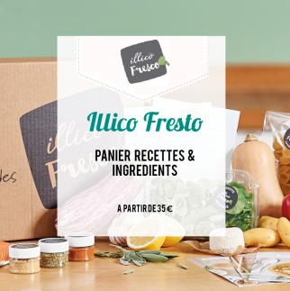 Illico fresto : panier recettes et ingrédients
